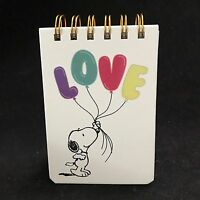 Graphique Peanuts Snoopy Love Balloons Notepad Wirebound 100 Sheets
