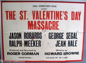 Cinema Poster St Valentine S Day Massacre 1967 Text Quad Roger