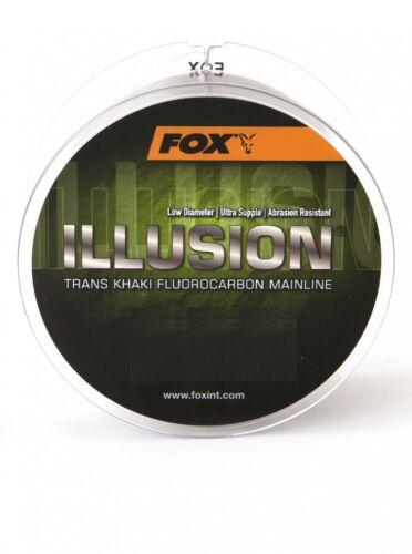 Fox Illusion Soft Mainline Karpfenschnur 600m Fluorocarbon Schnur 0,13€//1m