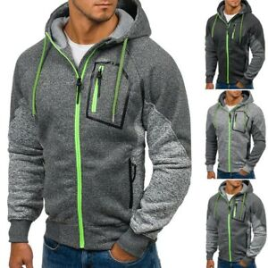 New-Men-039-s-Outwear-Sweater-Winter-Hoodie-Warm-Coat-Jacket-Slim-Hooded-Sweatshirt