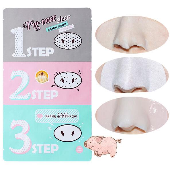 [HOLIKA HOLIKA] Pig-nose Clear Black Head 3 Step Kit /Korean Cosmetics