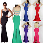 SEXY Long Prom Dresses Mermaid Formal Party WEDDING Bridesmaids Evening Gowns GK