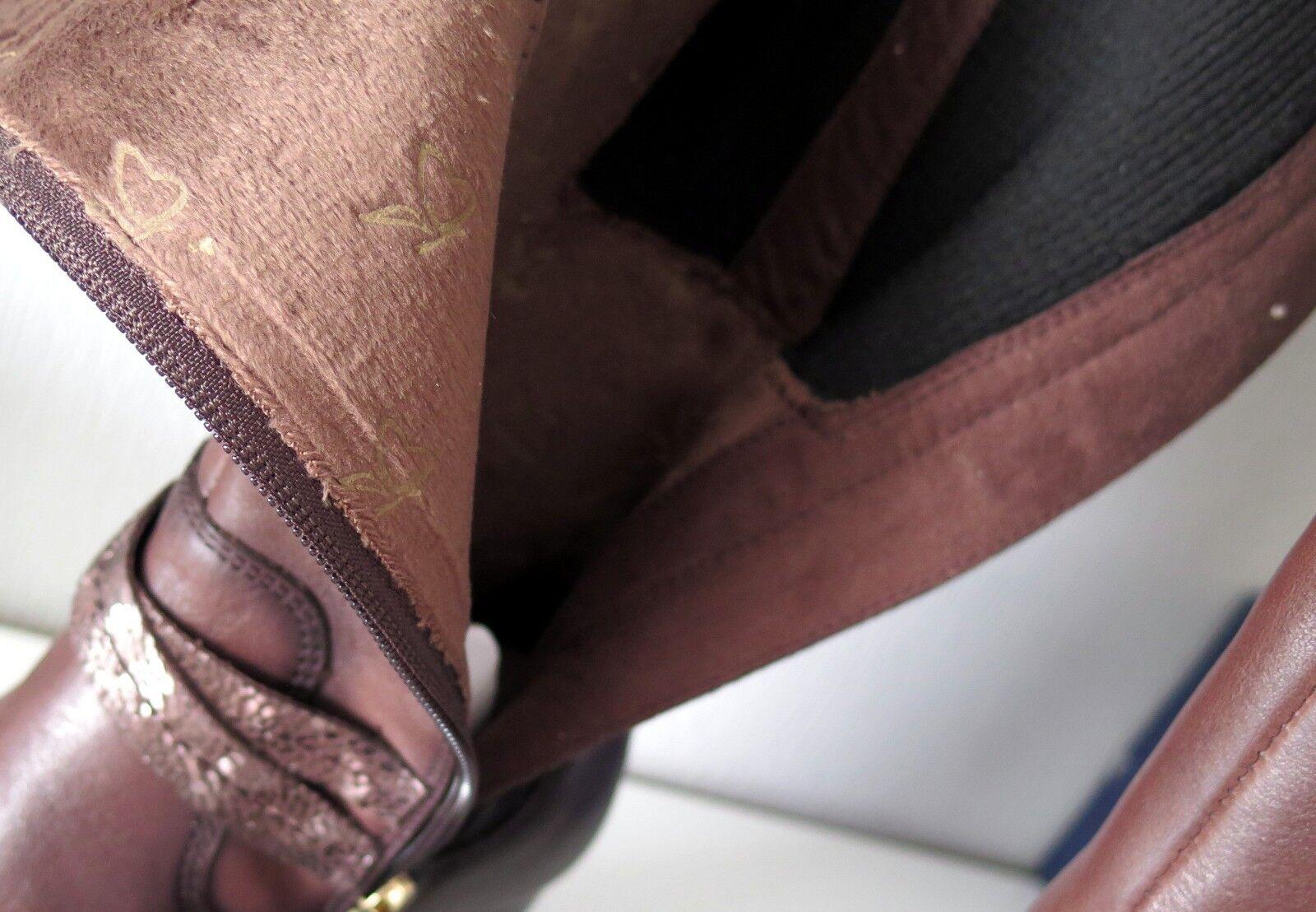 CAPRICE Stiefel Gr. 3 Echtleder 1/2 oder 36 Weite H Echtleder 3 braun cafea2