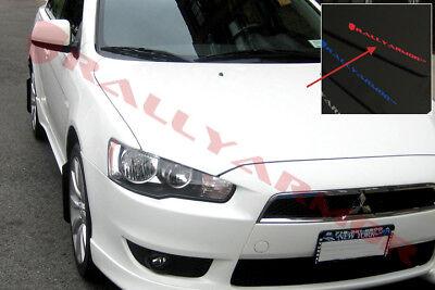 Rally Armor UR Black Mud Flaps w// White Logo for 2007-2017 Lancer DE ES Sedan