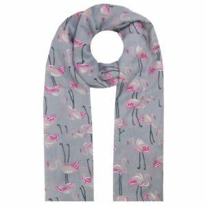 Scarf Silk Cotton Print Flamingo