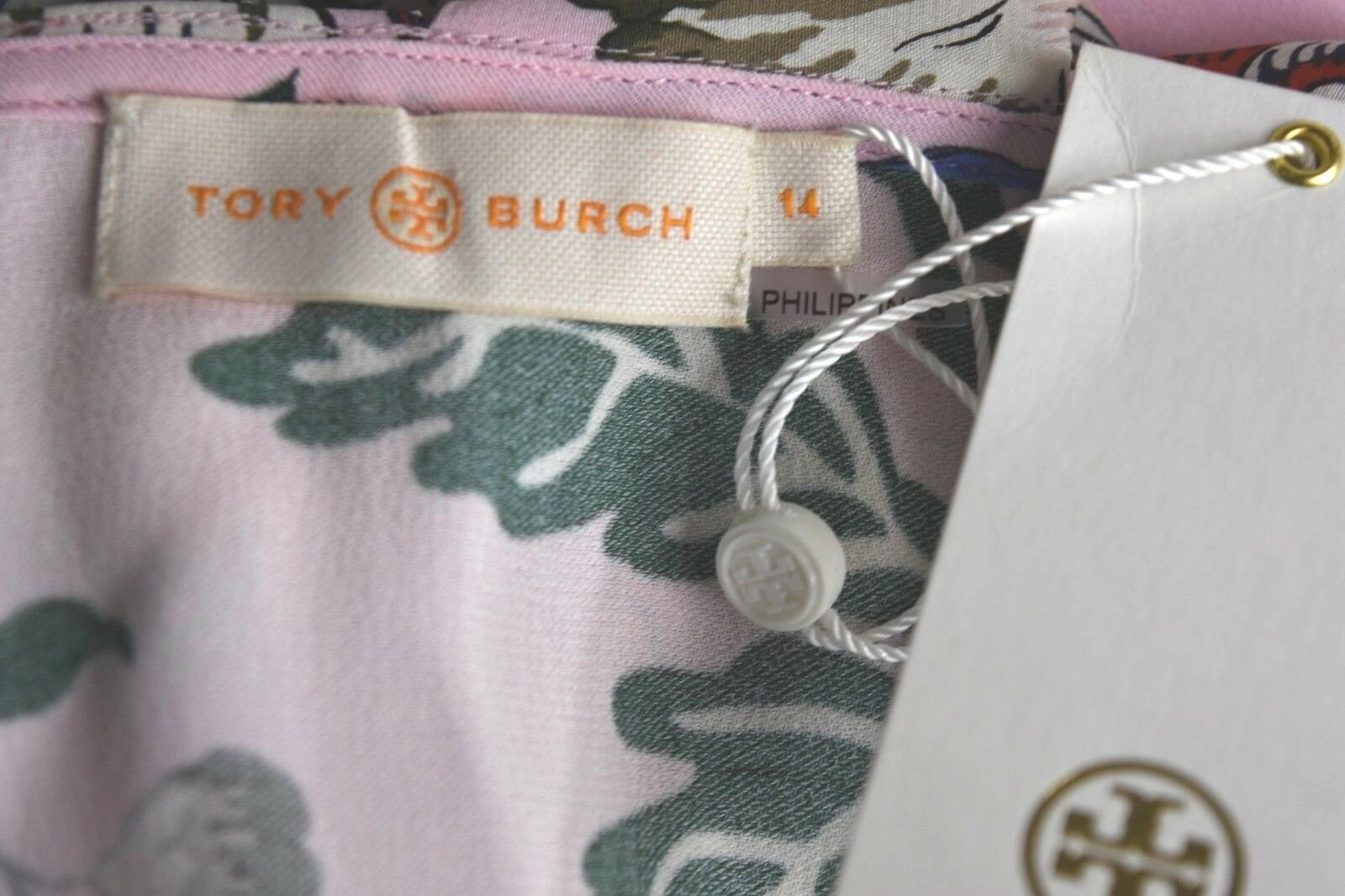 NEW Tory Burch ADELIA Ruffled Ruffled Ruffled Floral Wrap Dress Pink HAPPY TIMES  2 4 6 8 10 12 5a06be