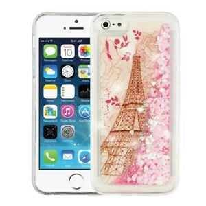 low priced f1e9d 326d3 Details about For iPhone 5C Liquid Glitter Quicksand Hard Case Phone Cover  Eiffel Tower