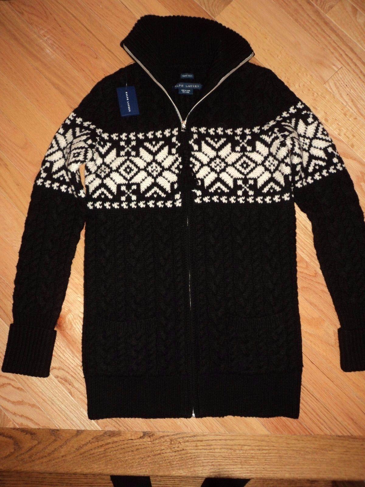 +++ Nuevo  Con Etiquetas  398 Ralph Lauren azul Etiqueta Hand Knit 100% Lana Suéter Sz S +++  precios ultra bajos