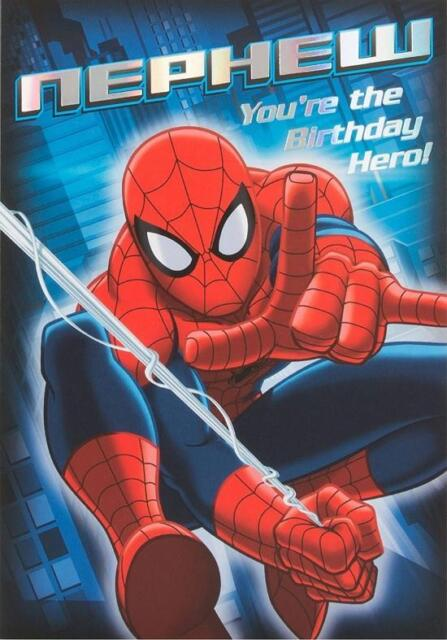 ULTIMATE SPIDERMAN NEPHEW BIRTHDAY CARD MARVEL AVENGERS DISNEY NEW GIFT