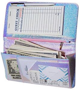 Zreal Server Book for Waitress with Zipper Pocket, 5 X 9 Serving Book, Magnetic