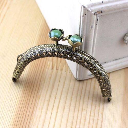 Exquisite bronze cadre en métal Kiss Fermoir Pour Poignée Sac à main 8.5CM//3 .35 in environ 0.89 cm