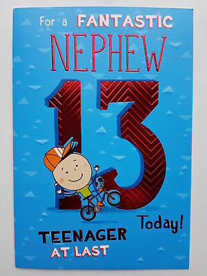 13th GRANDDAUGHTER BIRTHDAY CARD AGE 13 ~ QUALITY CARD WITH LOVELY VERSE BY IC/&G