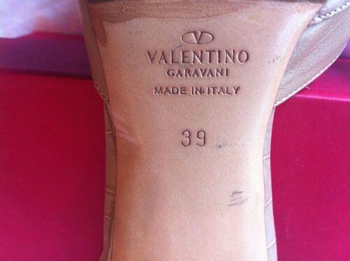 Toe Cuir Cutout Taille Escarpins Valentino En Garavani Slingback 39 Beige qafTt