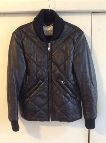 Kenzo Paris Men's Leather Zip Puffer Jacket