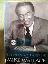 Between You and Me A Memoir by Mike Wallace and Gary Paul Gates (2005, HC & DVD)