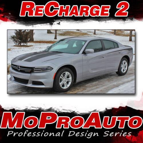 15 RECHARGE 2015-2019 Dodge Charger Vinyl Graphics Hood /& Side 3M Pro Vinyl Kit