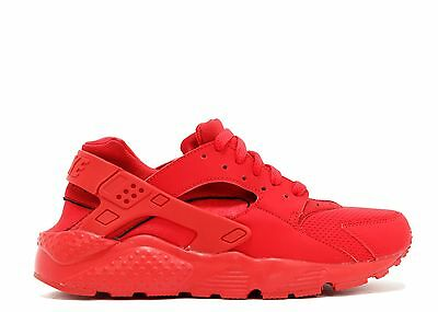 finest selection af4cf fad3a Nike Air Huarache low all Red foamposite uptempo White GS Boys kids  vapormax 1 | eBay