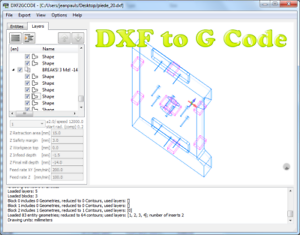 Details about Software for Converting 2D DXF Drawings to CNC Machine G-Code  milling