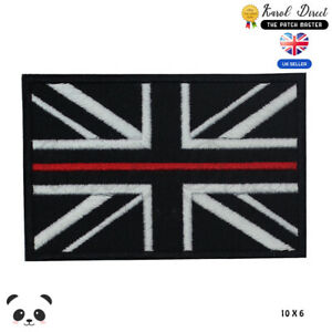 Union Jack Black Flag UK Embroidered Iron On Sew On PatchBadge For Clothes etc
