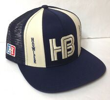 ef234ac4c3dac4 $30 HOWLER BROTHERS TRUCKER SNAPBACK HAT Retro Lucky Stripes Navy Blue  Off-White