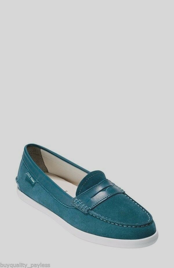Cole Haan Pinch Weekender Teal Suede Loafer Schuhes Damenschuhe 6 NEW IN BOX