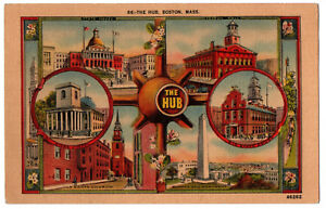 CPA-USA-66-The-Hub-Boston-Massachusetts-State-House-Faneuil-Hall
