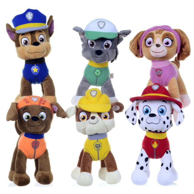 """NEW OFFICIAL 12"""" 15"""" PAW PATROL PUP PLUSH SOFT TOY NICKELODEON DOGS SUPERHERO"""