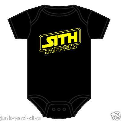 SCI-FI STAR WARS BABY GROW  VEST BODYSUIT SITH HAPPENS KYLO REN VADER 0-18 M NEW
