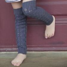 Huggalugs Leg Ruffles Baby Toddler Cable Knit Leg Arm Warmers- Vine Gray