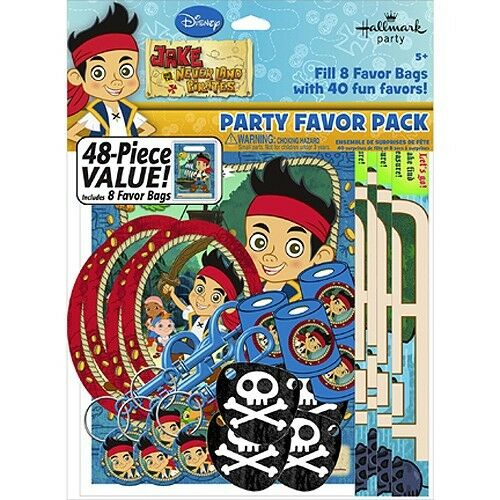 JAKE AND THE NEVER LAND PIRATES party supplies (48 PC PARTY FAVOR PACK)