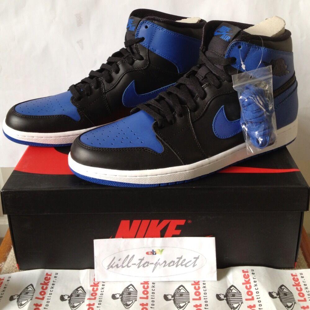 NIKE JORDAN 1 OG ROYAL blueE BLACK UK US 7 8 9 10 11 12 13 Legit 555088-085 2013