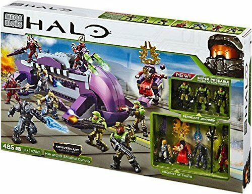 Mega Bloks Halo Covenant Hierarch's Shadow Convoy Set 97521 NISB + 3 STORM GRUNT