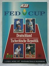 Orig.programm TENNIS FED TAZZA 1997 Germania-REPUBBLICA CECA!! RARA
