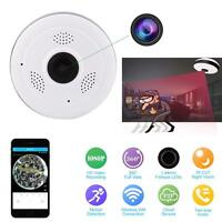 360 Hd 2mp Ip Wifi Mini Camera Panorama 1080p Ir Fisheye Security Audio Us Plug