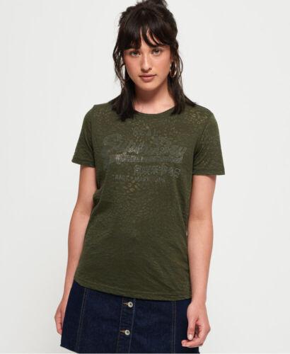 Superdry Womens Vintage Logo Burnout T-Shirt