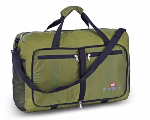 "Suvelle Lightweight Foldable Travel Duffel Bag 21"" Water Resistant Nylon NEW"