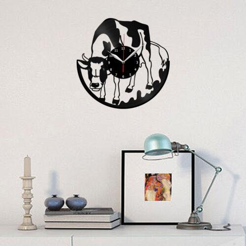 Cow Vinyl Record Wall Clock Home Fan Art Decor 12/'/' 30 cm 6214