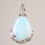 Natural-Quartz-Crystal-Stone-Teardrop-Flower-Healing-Gemstone-Pendant-Necklace thumbnail 4