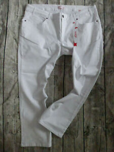 Sheego-Ladies-Jeans-Trousers-Stretch-Size-40-to-58-Maila-White-305-New