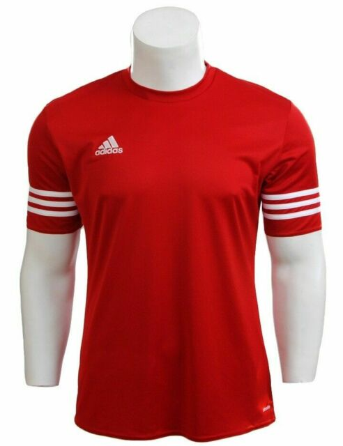 adidas Entrada 14 Short Sleeve Jersey Red White M for sale online ...