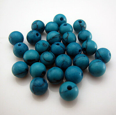 NEW 100pcs Howlite Strand Turquoise Round Loose spacer bead Natural gemstone 6mm