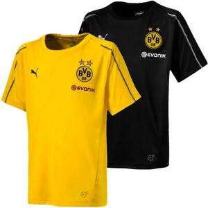 Puma-BVB-Borussia-Dortmund-Kinder-Training-Trikot-Jersey-Fan-Fussballtrikot