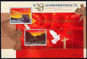 China-PRC-2008-Block-146-Wahl-der-schoensten-Briefmarke-28th-Best-Stamp-2007-MNH