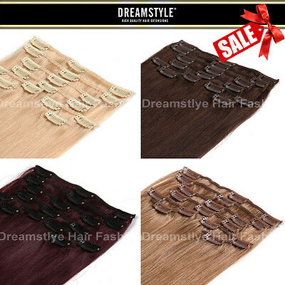 20% OFF Sale :Clip In Remy Human Hair Extensions Full Head From Dreamstyle