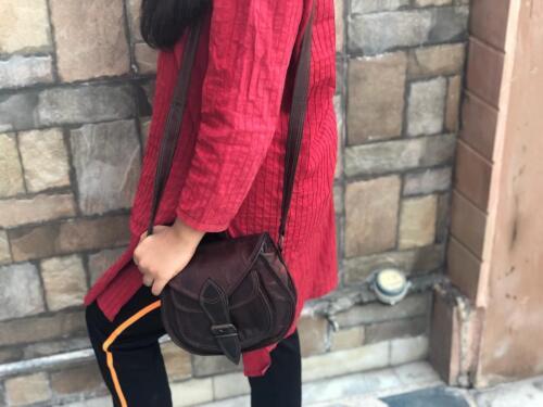 Messenger Neue Vintage Reinem Tan Handgefertigte Weiche Bag Damen Ziegenleder Aus Handtasche TpCSx
