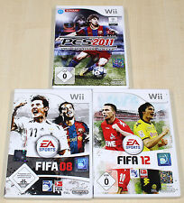 NINTENDO WII SPIELE SAMMLUNG FIFA 08 12 PES 2011 FUSSBALL ----------- (13 14)