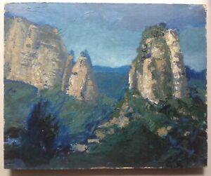 MOSKOVTCHENKO-Michel-Paysage-Rochers-aux-Visages-Art-Contemporain-Huile