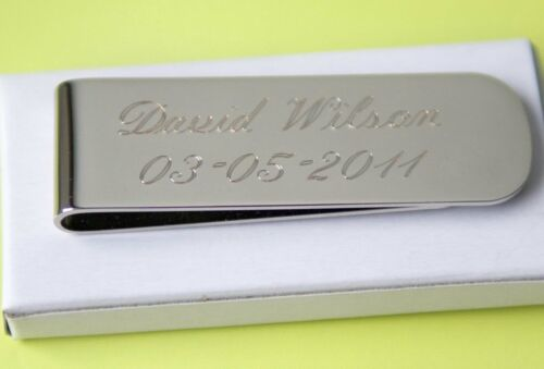 9 personalized money clips best man gift groomsman gift free custom engraving