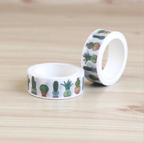 Decoration Floral plant Washi Masking Paper Tape DIY Diary Scrapbook Sticker 5M