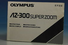 Olympus AZ-300 SUPER ZOOM Bedienungsanleitung Instructions E/F/G/S - (101854)